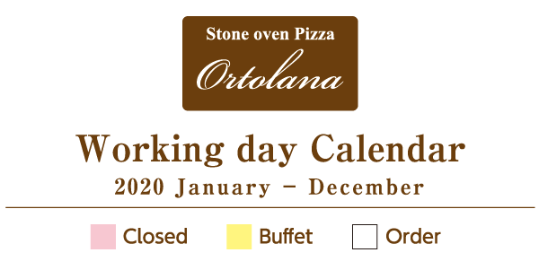 2020 Ortolana Workingday